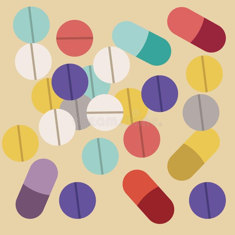Vitamins design. Over beige background, vector illustration stock illustration