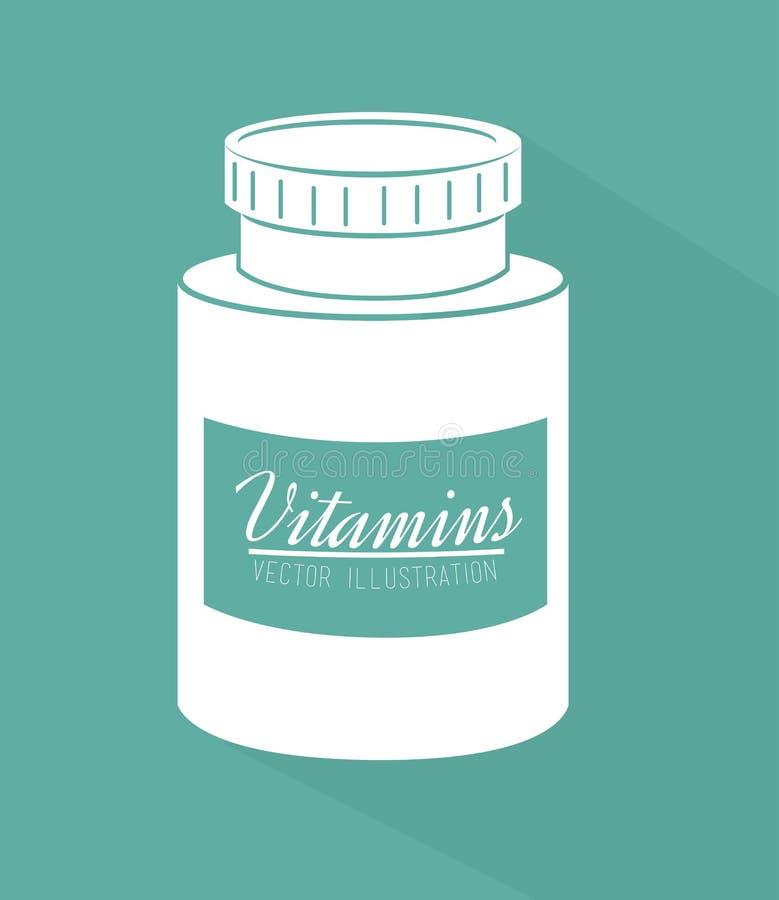 Vitamins design. Over green background, vector illustration vector illustration