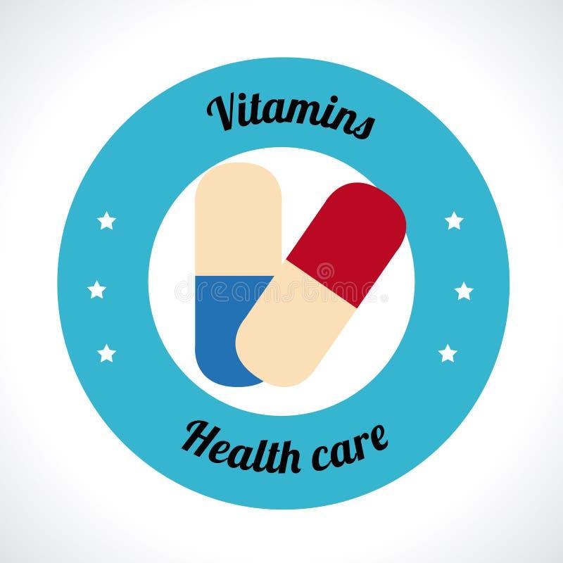 Vitamins design. Over white background, vector illustration vector illustration