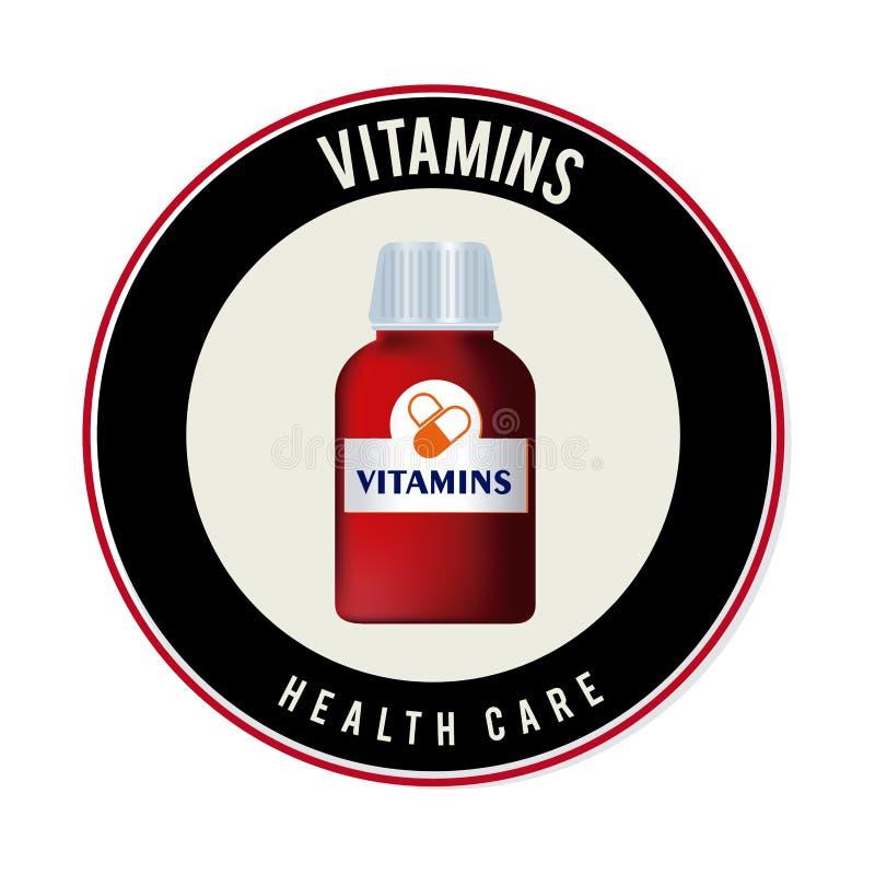 Vitamins design. Over white background, vector illustration royalty free illustration