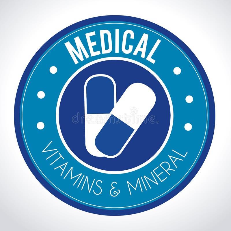 Vitamins design. Over white background, vector illustration stock illustration