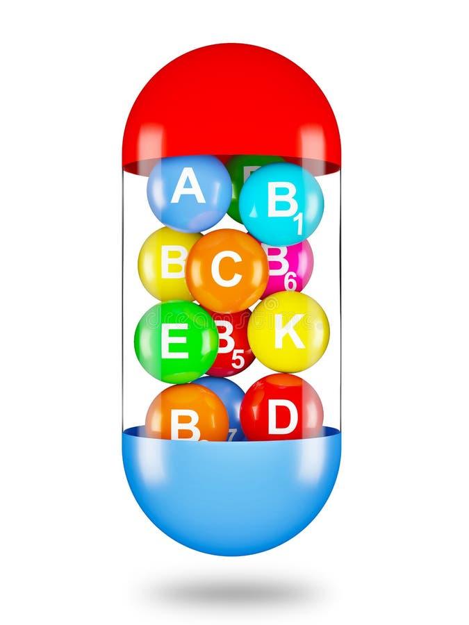 Vitamins vector illustration