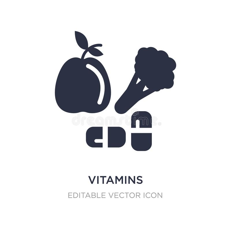 Vitamins icon on white background. Simple element illustration from Food concept. Vitamins icon symbol design royalty free illustration
