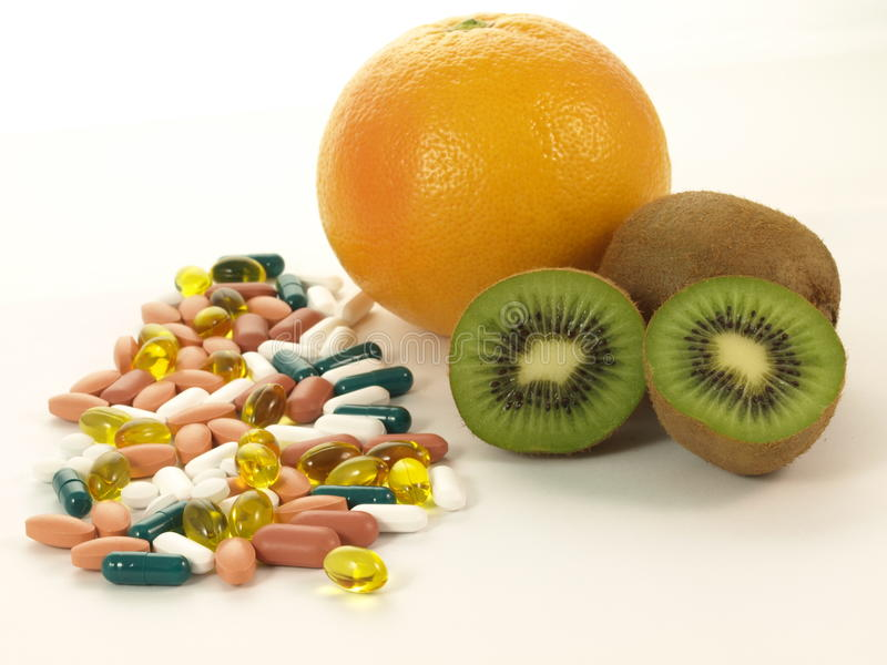 Vitamins, isolated royalty free stock photography