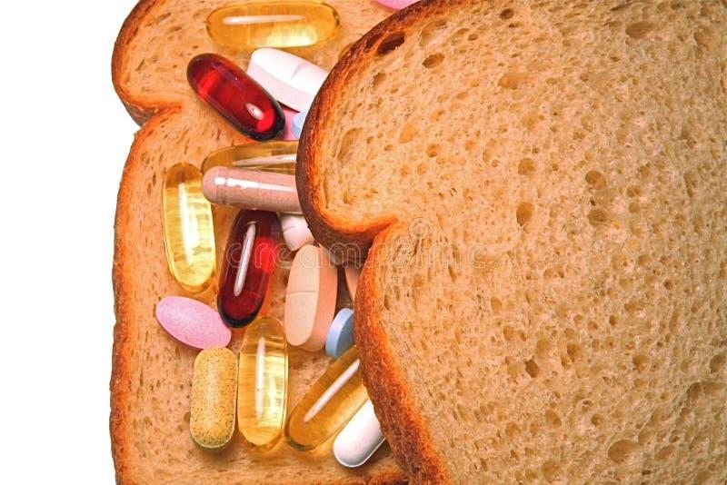 Vitaminsandwich lizenzfreies stockbild