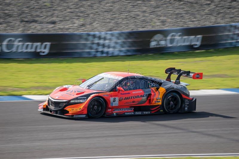 Vitantonio Liuzzi av det TÄVLINGS- LAGET AGURI för AUTOBACS i GT500 Qualifl royaltyfri bild