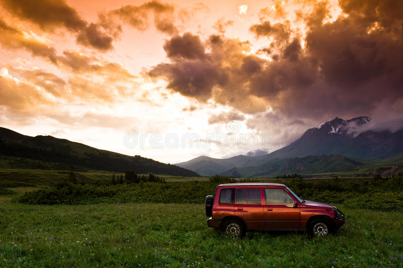 Vitara in red royalty free stock image