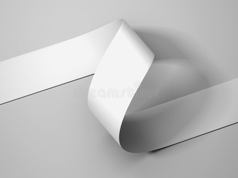 Vitbokband på ljus - grå bakgrund, tolkning 3d royaltyfri illustrationer