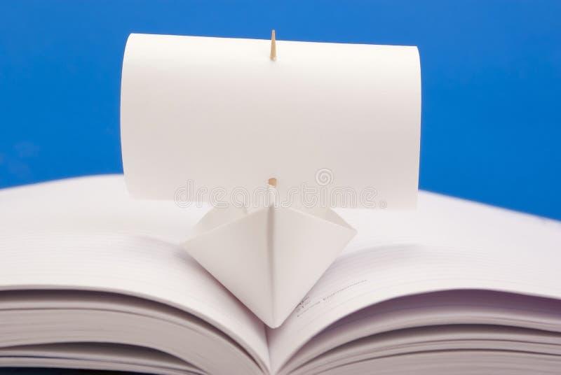 Vitbokskepp royaltyfria foton