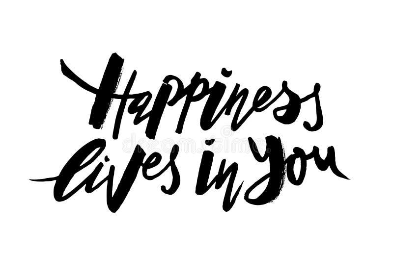 Vite di felicità in voi illustrazione di stock