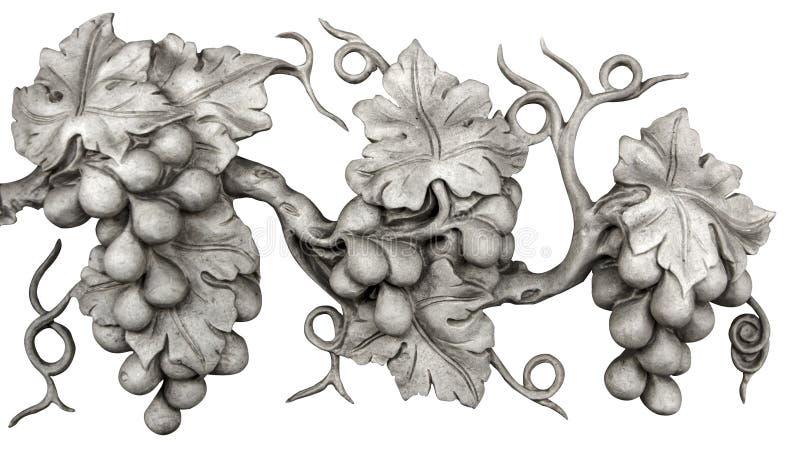 Vite scolpita in marmo isolato su bianco illustrazione di stock
