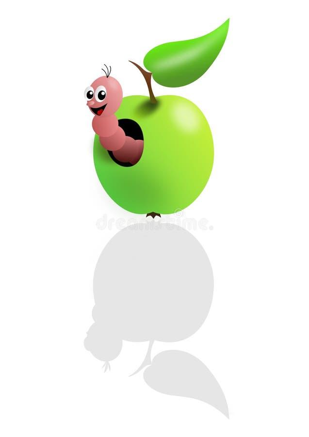 Vite senza fine dentellare in mela verde illustrazione vettoriale