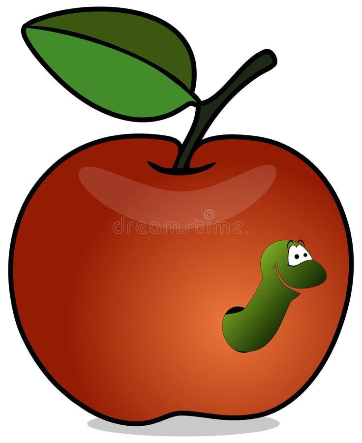 Vite senza fine in mela rossa illustrazione di stock
