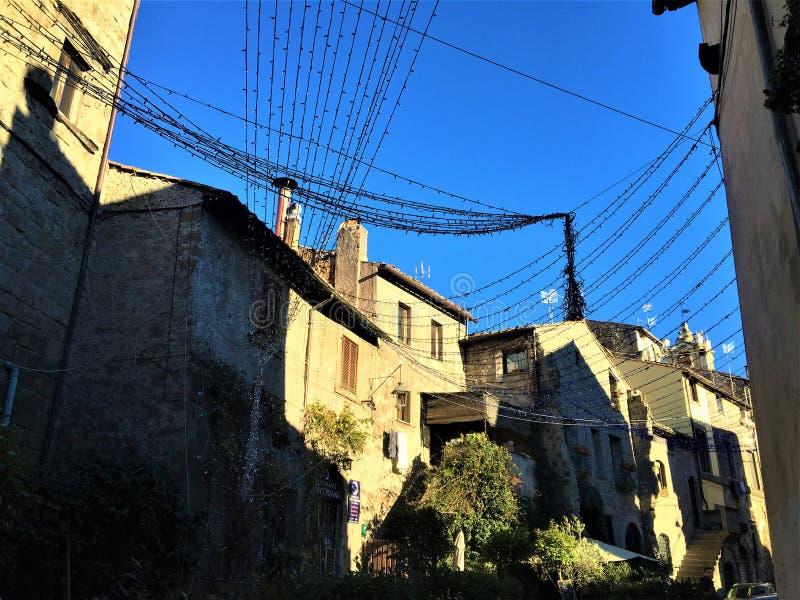 Vitebo市、意大利、历史和迷恋框架  免版税库存照片