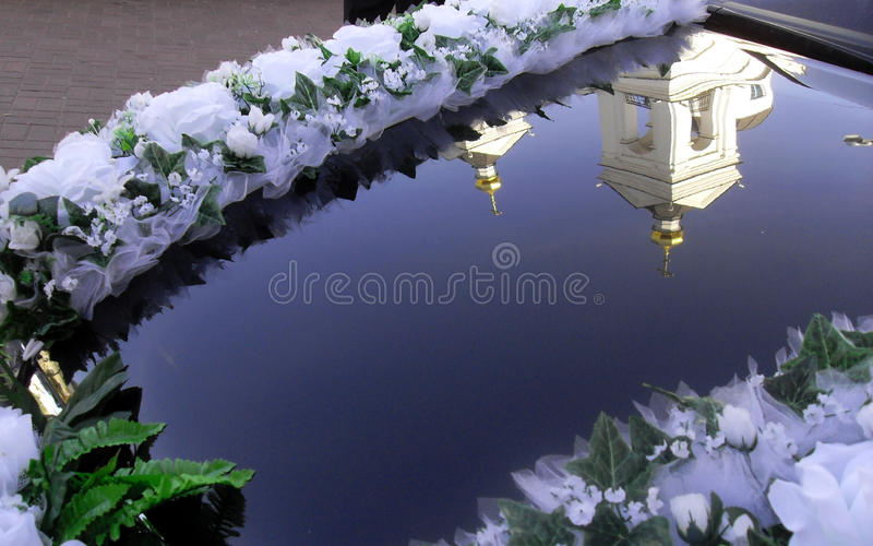 Vitebsk auto mirroring. Nature sky pure vitebsk mirroring church stock images