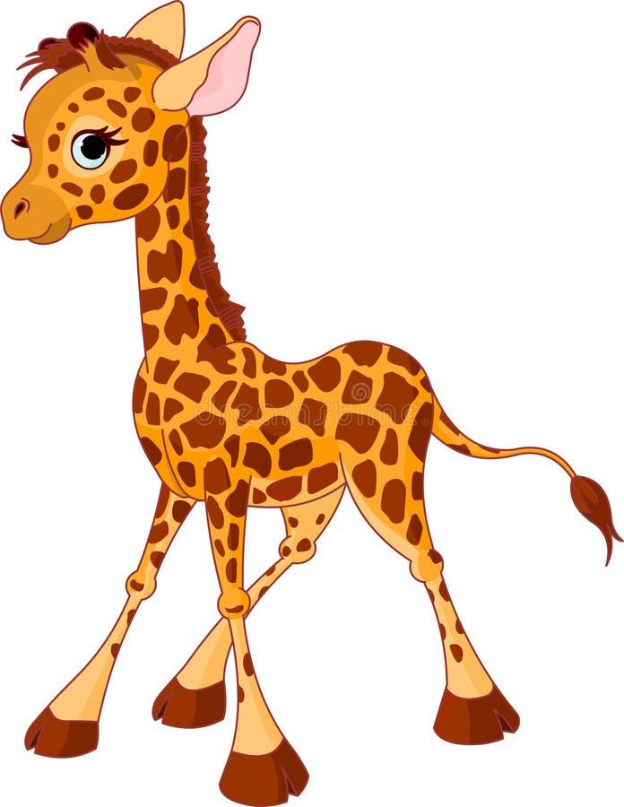 Vitela do Giraffe ilustração stock