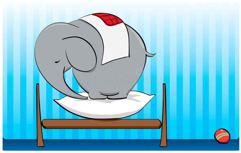 Vitello dell'elefante illustrazione vettoriale