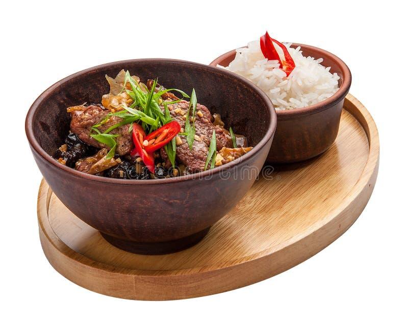 Vitello in salsa agrodolce Cucina cinese fotografia stock libera da diritti