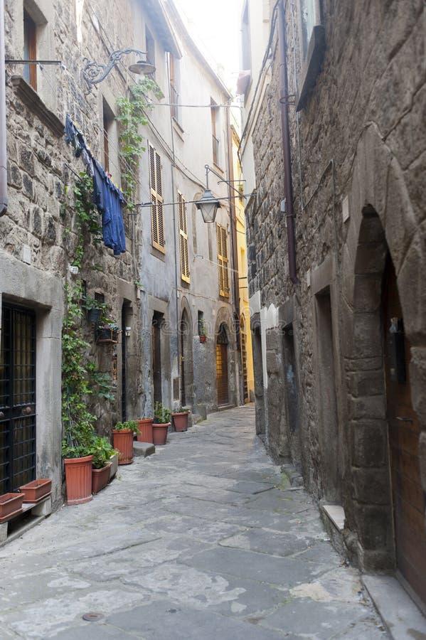 Viterbo, città medioevale fotografia stock libera da diritti