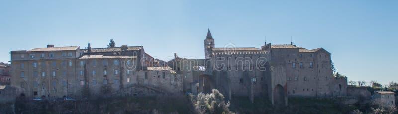 Viterbo: Pope pałac krajobraz zdjęcie stock