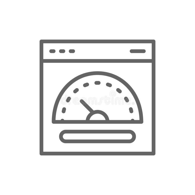 Vitesse accueillant, ligne rapide ic?ne de serveur illustration libre de droits