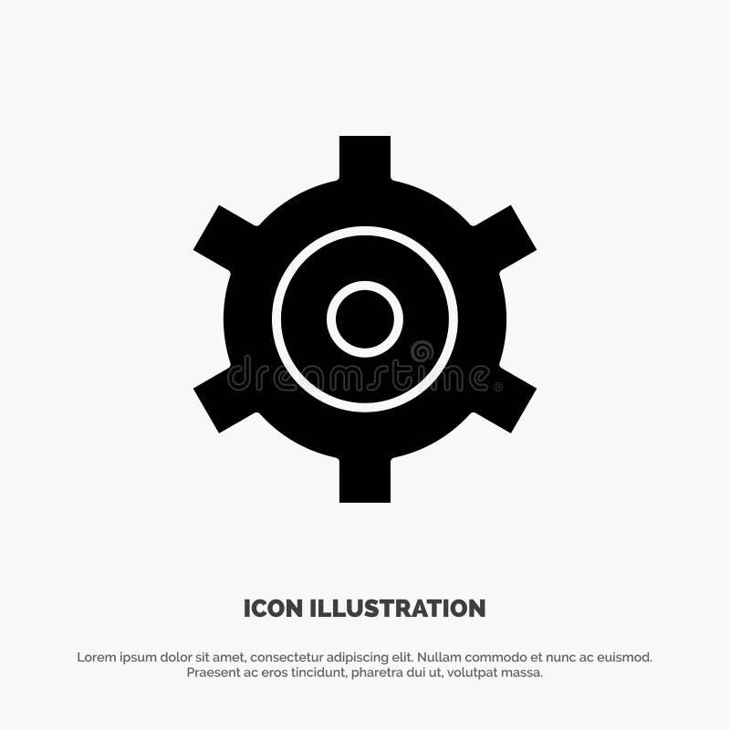 Vitesse, arrangement, vecteur solide d'icône de Glyph de dents illustration stock