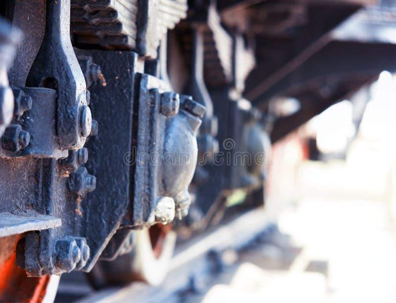 Vitesse courante de fond d'objet de locomotive à vapeur de cru photo stock