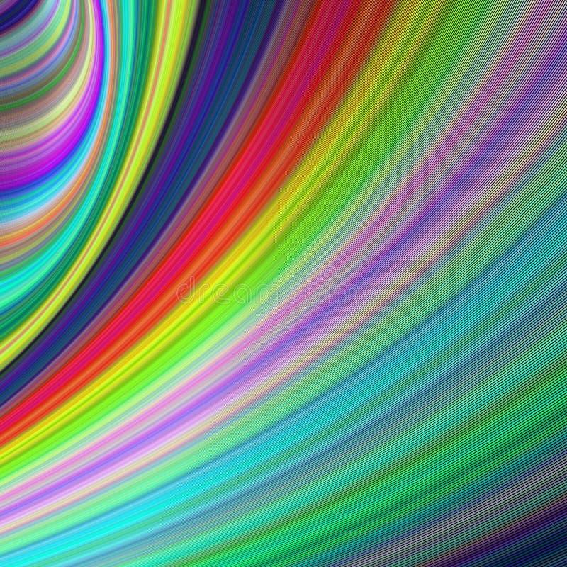 Vitesse d'arc-en-ciel - art généré par ordinateur abstrait illustration de vecteur