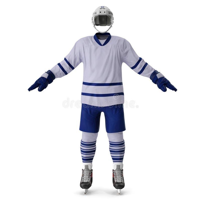 Vitesse d'hockey sur le blanc Front View illustration 3D illustration stock