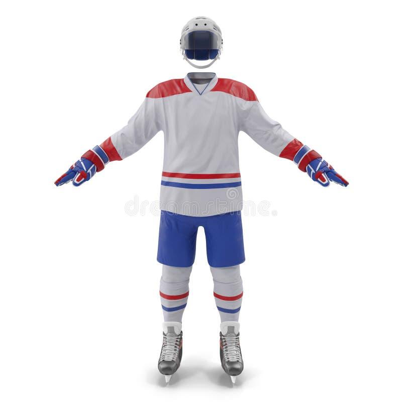 Vitesse d'hockey sur le blanc Front View illustration 3D illustration de vecteur