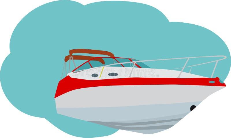 vitesse de bateau illustration libre de droits