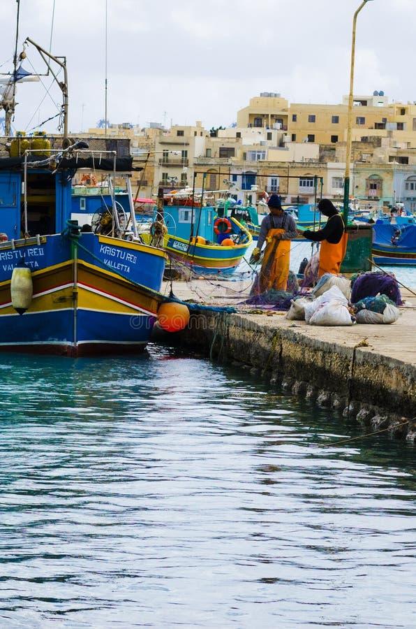 Vitesse de bateaux de pêcheurs image libre de droits