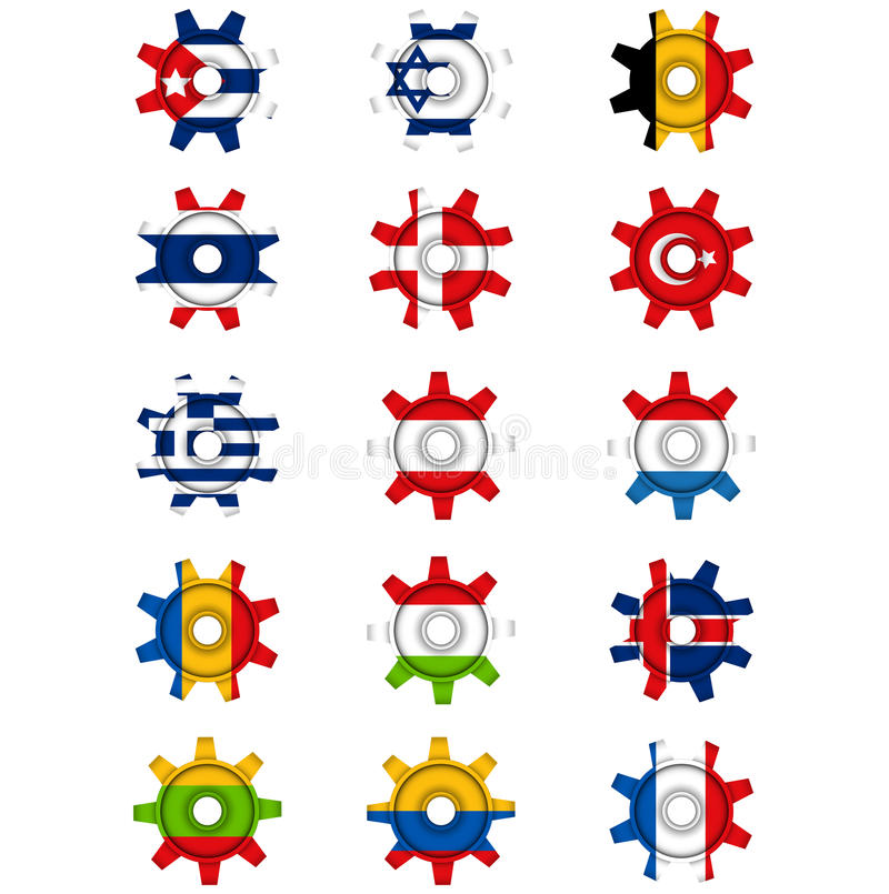 Vitesse de drapeaux illustration de vecteur