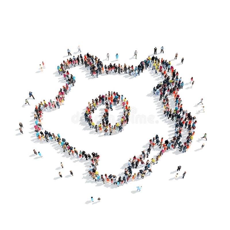 vitesse de forme de personnes de groupe illustration libre de droits