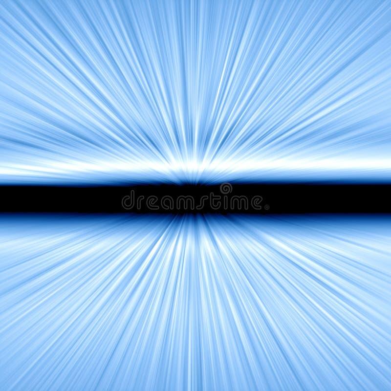 Vitesse de la lumière le souffle illustration stock