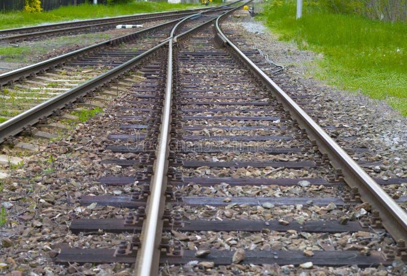 Vitesse de voies ferrées images libres de droits