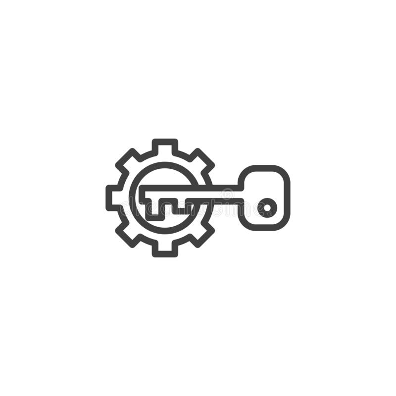 Vitesse et ligne principale icône illustration stock