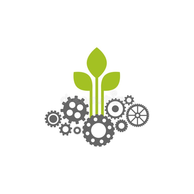 Vitesse verte avec l'icône grise de coutil Illustration plate de vecteur pour la technologie ou l'innovation illustration de vecteur