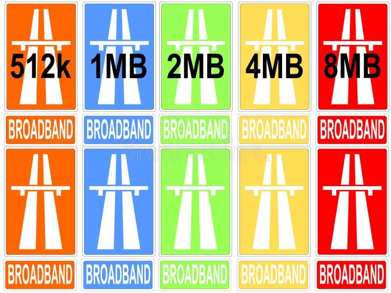 Vitesses colorées de téléchargement illustration de vecteur