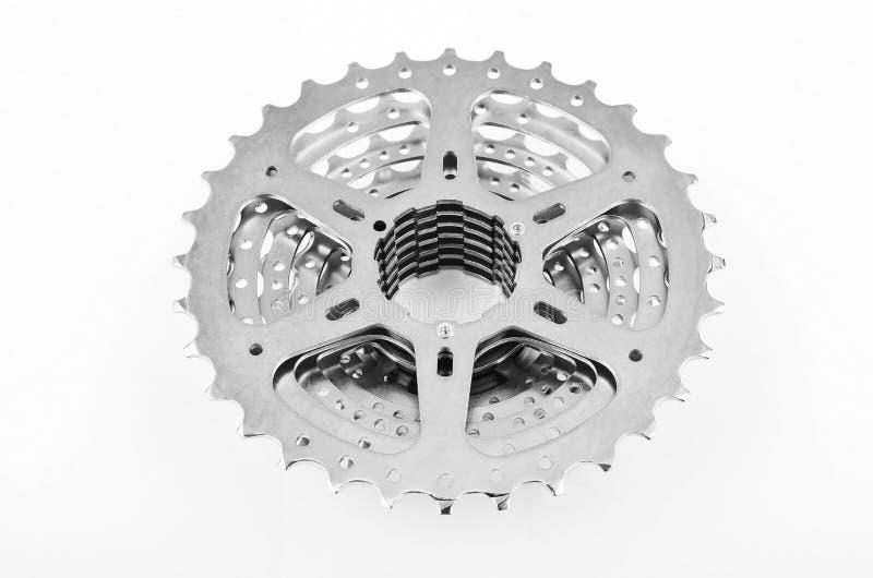 Vitesses de cassette de vélo images libres de droits