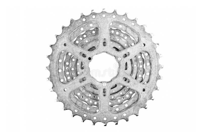 Vitesses de cassette de vélo images stock