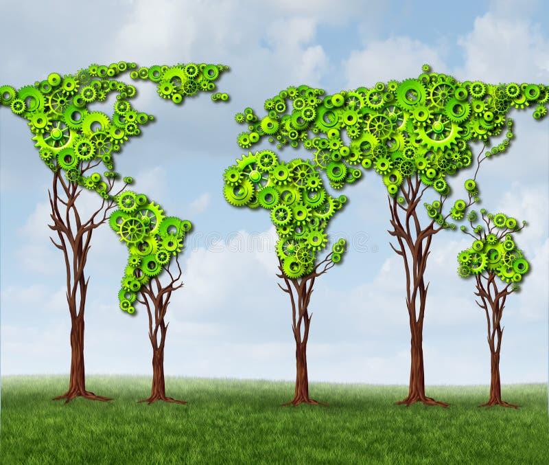 Vitesses globales d'arbre illustration de vecteur