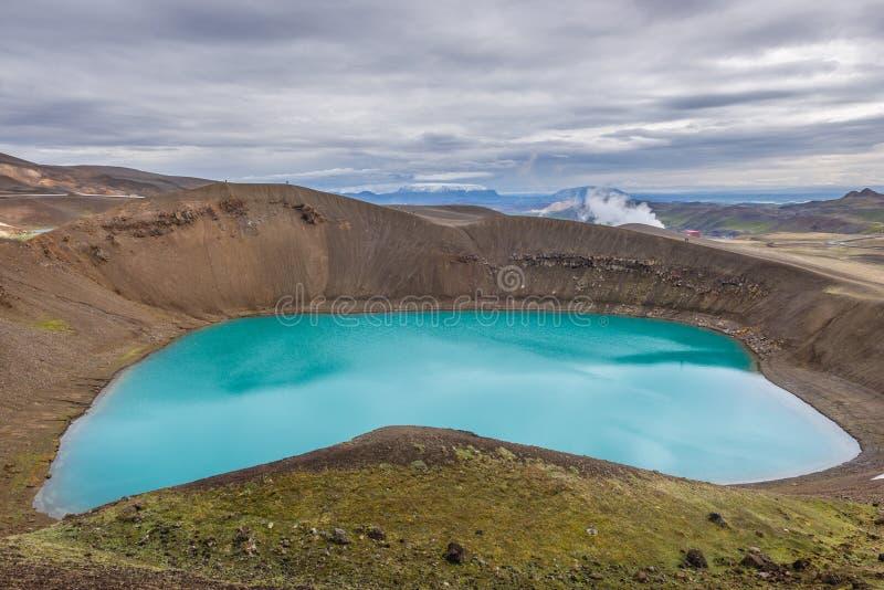 Кратер Viti в Исландии стоковые фото