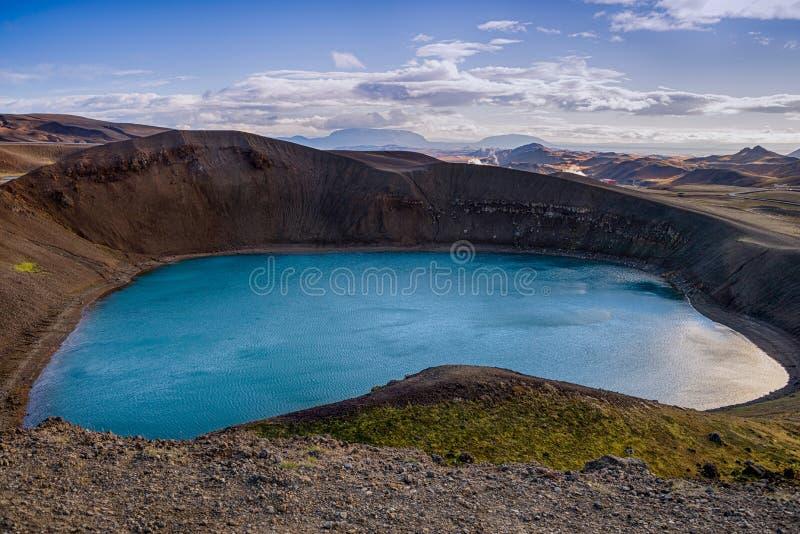 viti озера Исландии кратера стоковая фотография rf