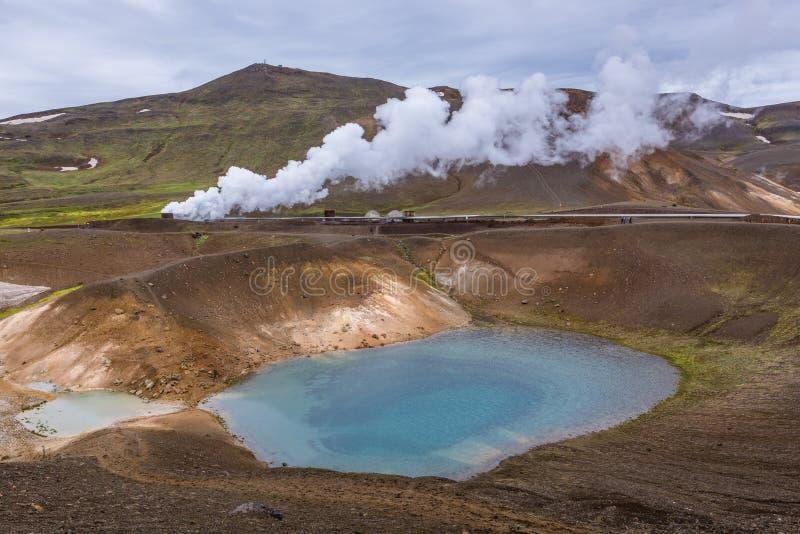 Viti Krater in Island lizenzfreie stockbilder