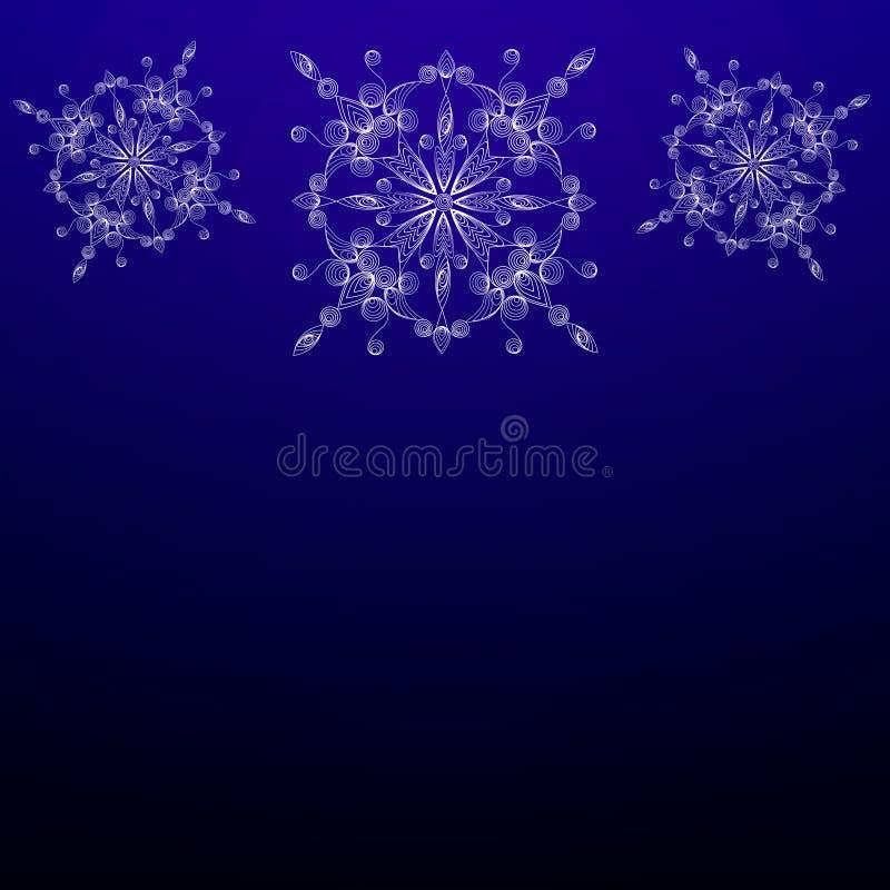 Vitiate płatki śniegu w technice quilling royalty ilustracja