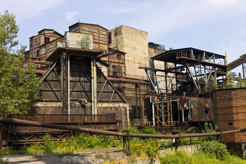 Vitkovice Iron and Steel Works Blast furnaces associated buildings royalty free stock image