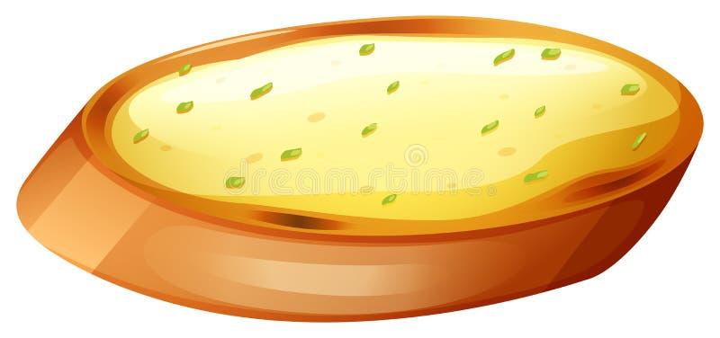 Vitlökbröd med ost royaltyfri illustrationer