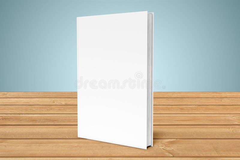Vitmellanrumsbok på träplankor stock illustrationer