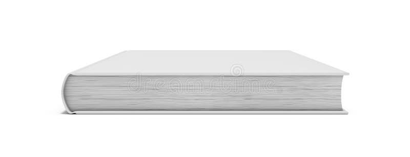 Vitmellanrumsbok på vit bakgrund vektor illustrationer
